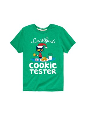Pete The Cat Certified Cookie Tester - Youth Short Sleeve Tee