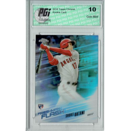 05 Topps Chrome Rookie Card - Shohei Ohtani 2018 Topps Chrome #FF-1 Freshman Flash Rookie Card PGI 10