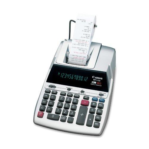 Canon MP11DX 12-Digit Ribbon Printing Calculator, Black/Red Print, 3.7 Lines/Sec
