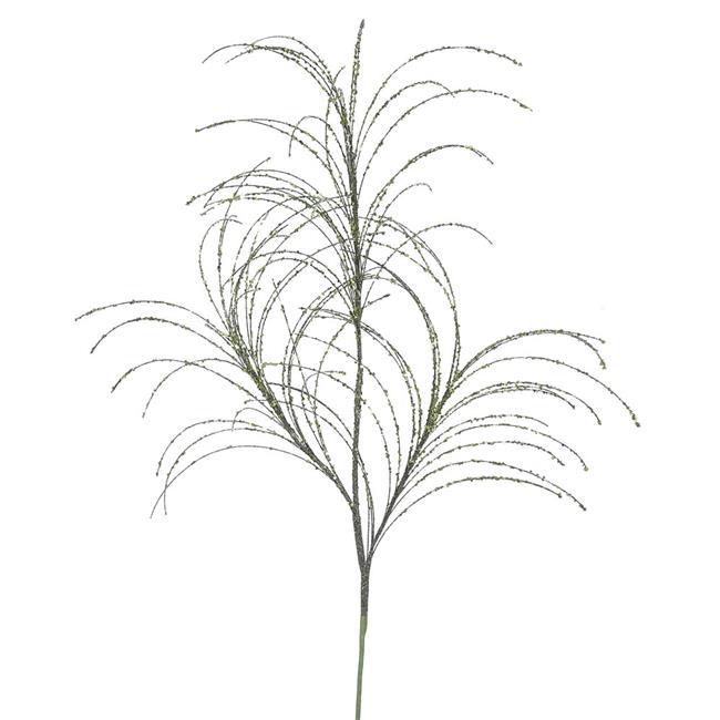 Olive Glitter Grass Spray - 34 in. - 6 Per Bag