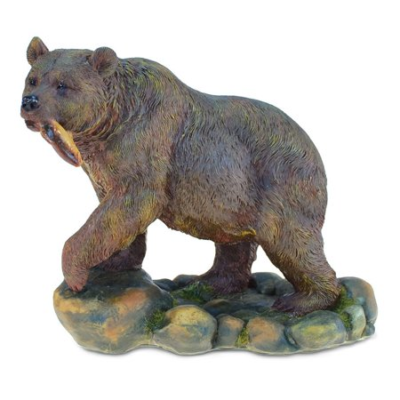 Safari Themed Gifts (Puzzled Elegant ?Grizzly Bear? Figures The Wild Decor Collection Wildlife Safari Animal Theme Resin Handcrafted Figurine Unique Home Accent Kitchen Bedroom Living Room Gift Souvenir 5.75)