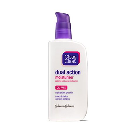 2 Pack - Clean & Clear Dual Action Moisturizer Oil-Free 4 oz Each