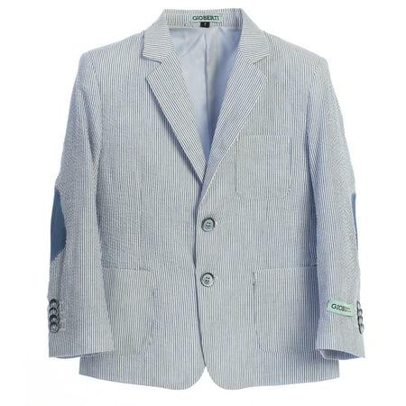 Gioberti Boys Lightweight Seersucker Blazer Jacket ()