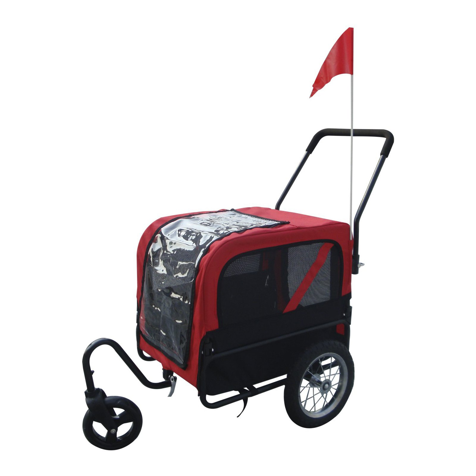 Aosom Elite Jr Dog Bike Trailer and Stroller with Swivel Wheel