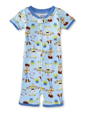 Toy Story 4 Toddler Boy Short Sleeve Snug Fit Cotton 1pc Romper Pajamas