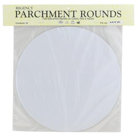 Regency Parchment (Regency Wraps RW1110 Round Parchment Paper, 10-Inch, White, Set of 24 )