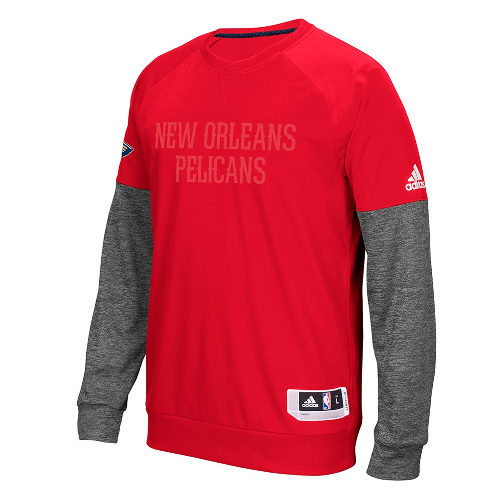 New Orleans Pelicans NBA Adidas Red 2016 Christmas Day Second Half Pullover  Crew For Men (3XL)