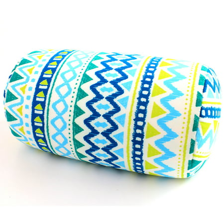 Micro bead Roll Bed Pillow Car Cushion Neck Head Soft Support Back Chair Pillow Blue Wave