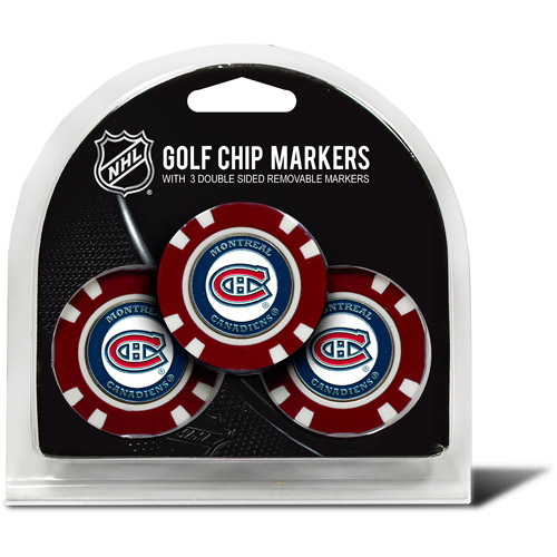 Team Golf NHL Montreal Canadiens 3 Pack Golf Chip Ball Markers