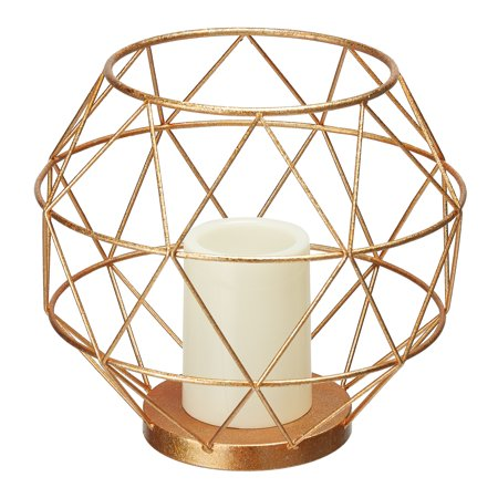 Chatham Brass Lantern (Mainstays 9 inch Metal Geometric LED Candle Lantern)
