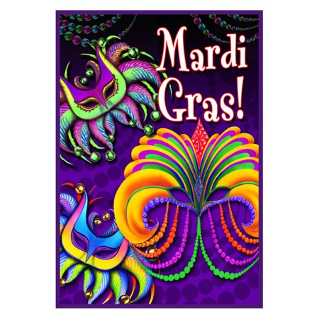 Toland Home Garden Happy Mardi Gras Double Sided Flag