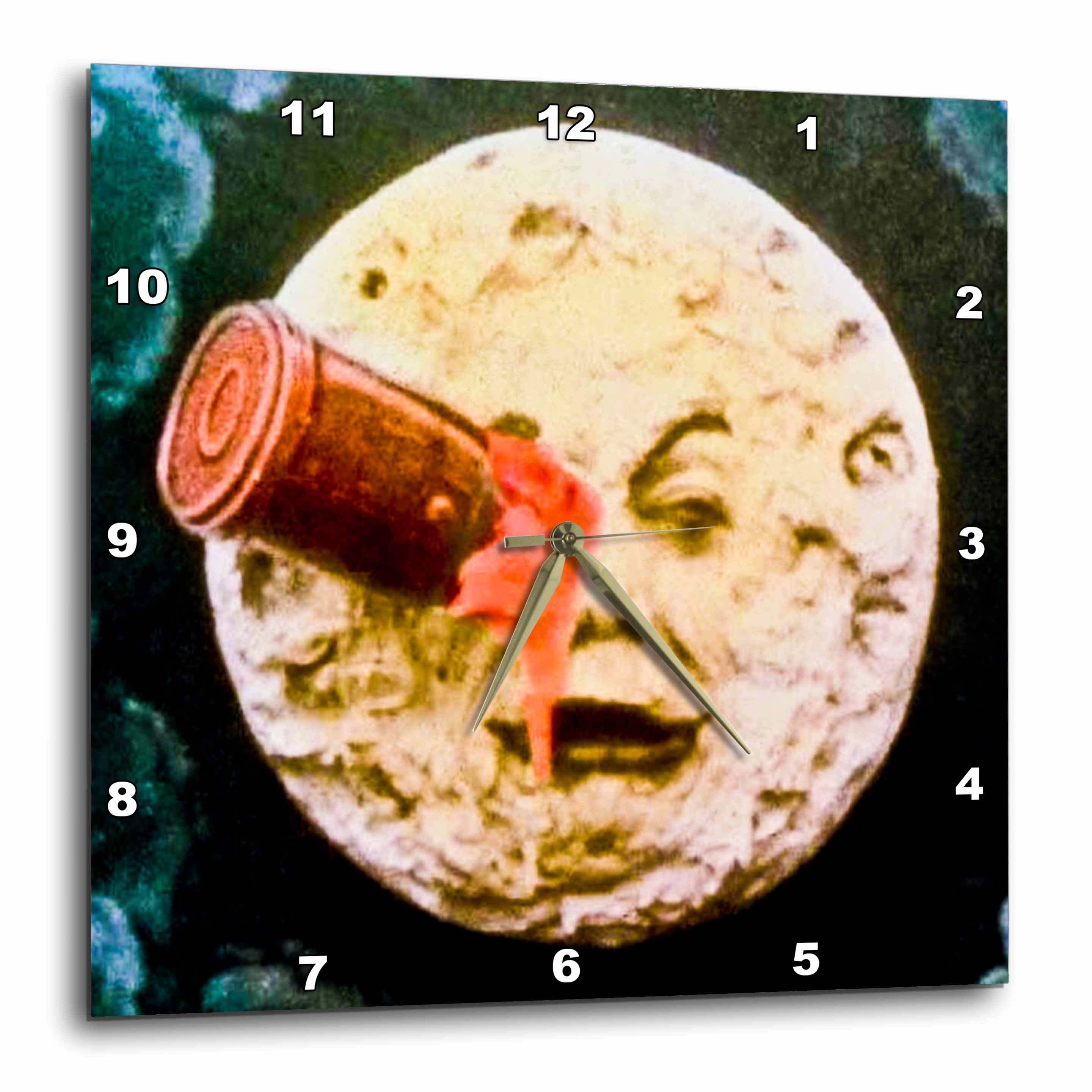 3dRose A Trip to the Moon (Hand Colored), Wall Clock, 10 by 10-inch