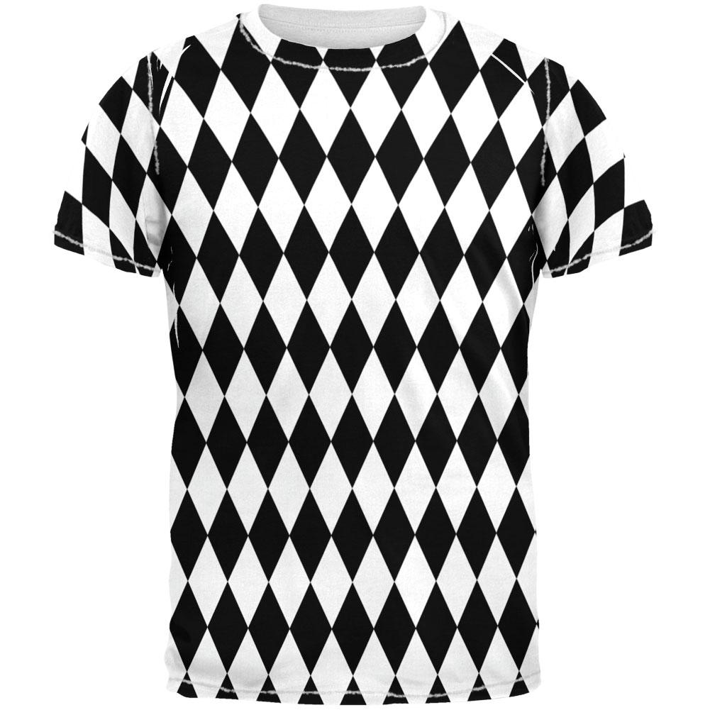 Checker Diamonds All Over Adult T-Shirt
