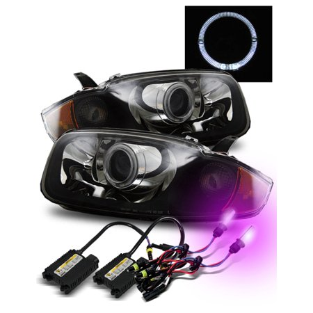 12000K Hid For 03 05 Chevy Cavalier Halo Hi Low Beam Projector Headlights Blk
