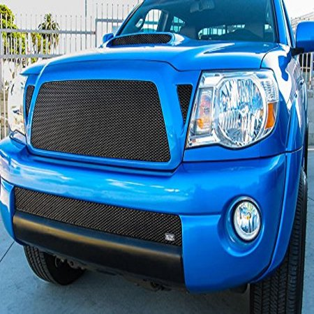 Grillcraft TOY1949B MX Series Black Upper Corner Vent 2pc Mesh Grill Grille Insert for Toyota Tacoma (Toyota Tacoma Grill 2009)