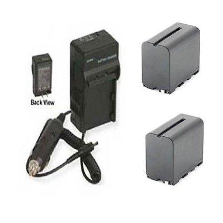 TWO 2 NP-F970/B Batteries + Charger for Sony NEX-FS100, Sony NEX-FS100U FS100E FS100P (Sony Fs100)