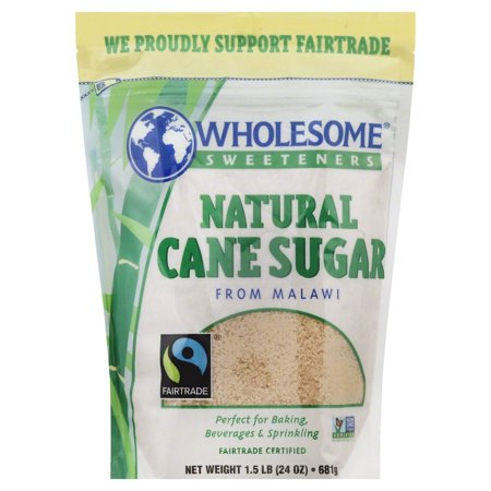 Wholesome Sweeteners Fair Trade Natural Cane Sugar from Malawi, 24 Ounce Pouches
