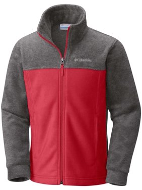 Columbia Boys' Steens Mountain Fleece Jacket (Mountain Red, 2XS)