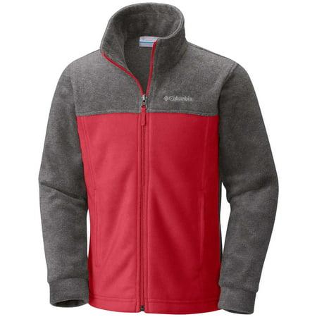 Columbia Boys' Steens Mountain Fleece Jacket (Mountain Red, 2XS) Ciao Baby Hoodies