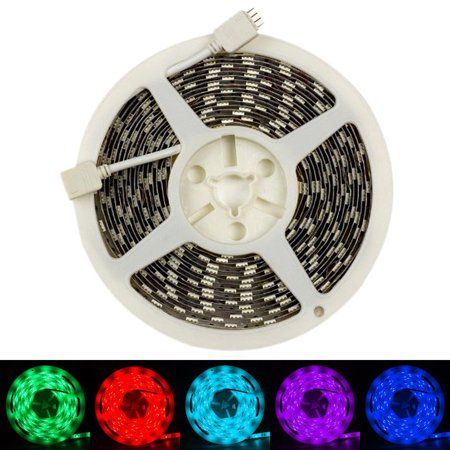 Rgb Led Strip Controller - SUPERNIGHT 5m 300 LEDs SMD5050 Color Changing RGB Flexible Non-waterproof LED Strip Lights with 20Key Infrared Music Controller IR Remote(Power Adapter Included)
