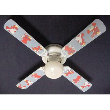 Ceiling Fan Designers 42FAN-NURS-SSBNE Sesame Street Baby Nursery Elmo Ceiling Fan 42 in.