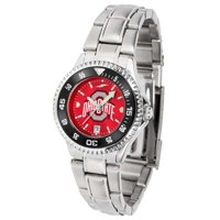 Ohio State Women's Competitor Steel AnoChrome Watch - Color Bezel