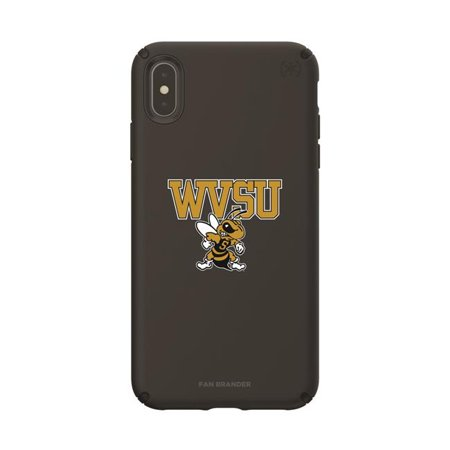 Speck IPH-XSM-BK-PRE-WVSU-D101 Black Presidio Pro Case with West Virginia State University Yellow Jackets Primary Mark Design for iPhone XS Max - image 1 de 1