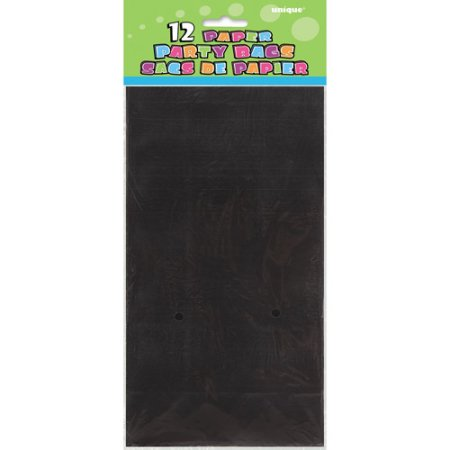 (4 Pack) Paper Luminary & Party Bags, 10 x 5 in, Black, 12ct - Black Paper Bag