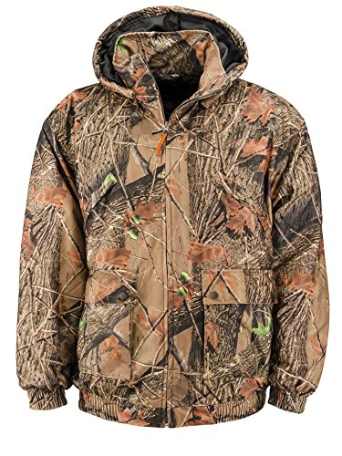 Trail Crest Men's Insulated & Waterproof Camo Hunters Tanker Jacket, 2X, Forest by Trail Crest