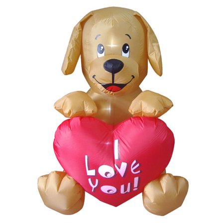 BZB Goods Valentine's Day Inflatable Puppy Party Decoration - Valentine Inflatables