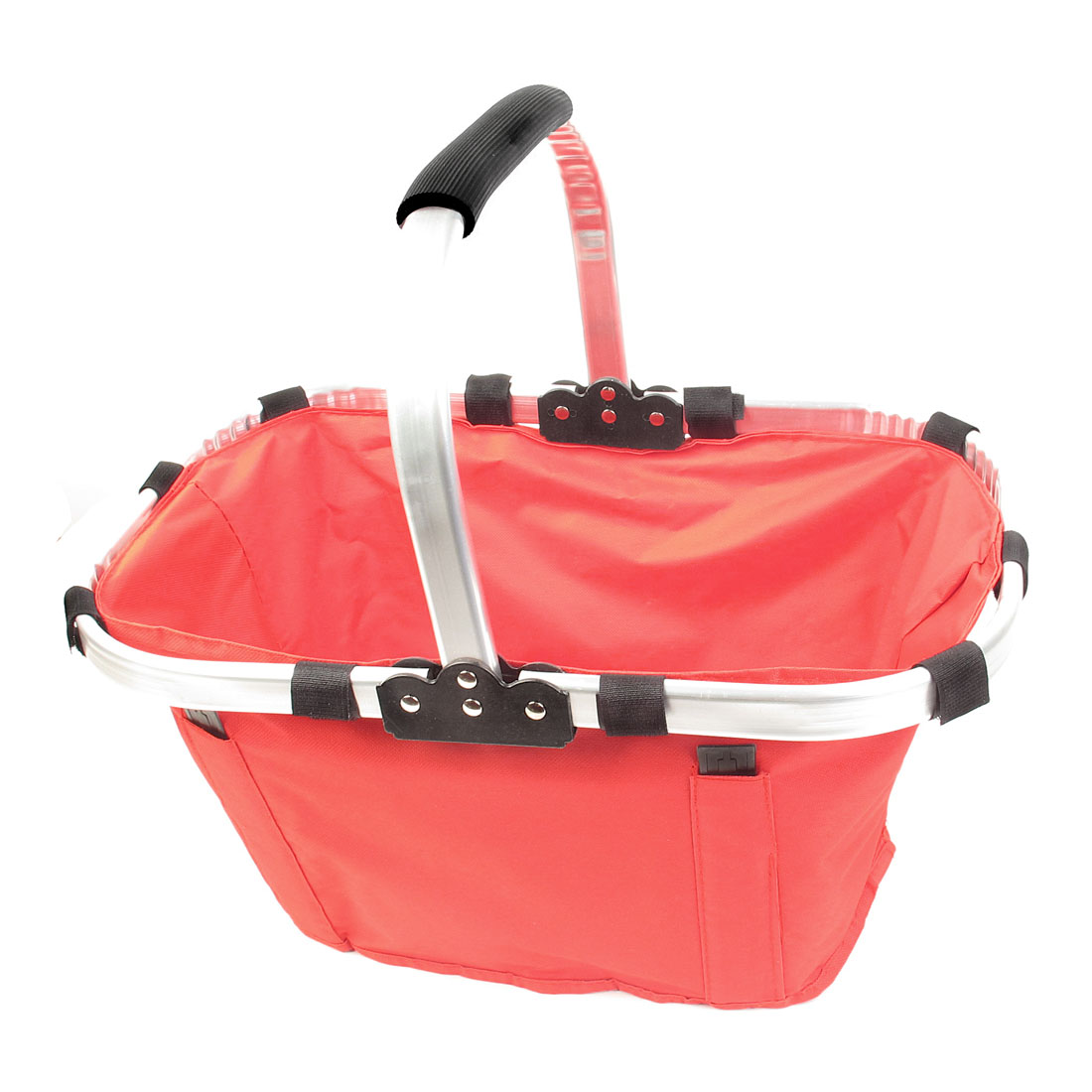 Red Cloth Foldable Eco Tote Bag Picnic Grocery Shopping Basket w Handle