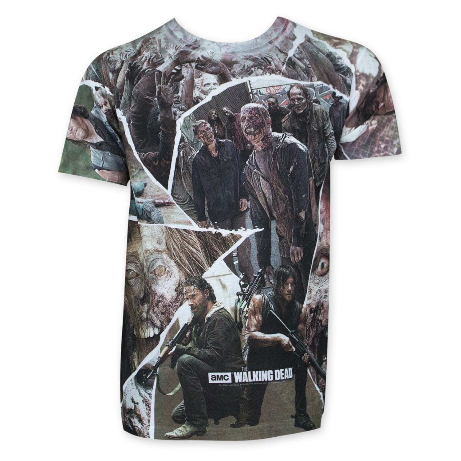 Walking Dead Men's Sublimated Panel Tee Shirt