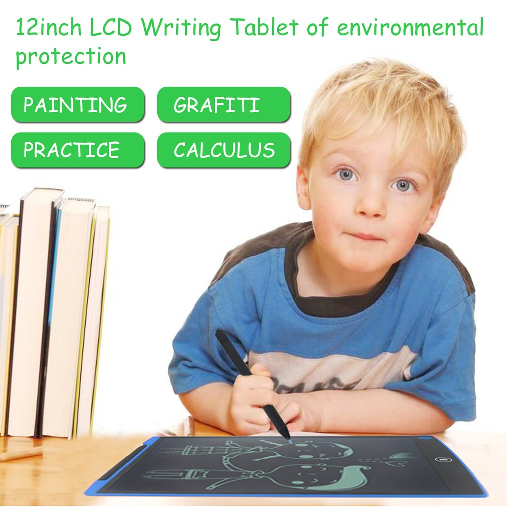 12inch LCD Writer Tablet Writting Drawing Memo Notes Reminder Message Board