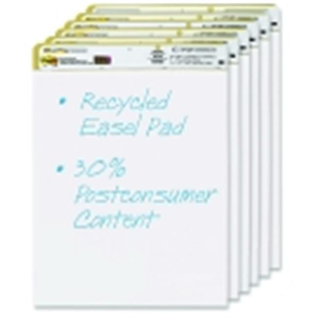 Post-It 25 x 30 in. Self-Stick Easel Pad, Unruled, White Recycled, Pack - 6