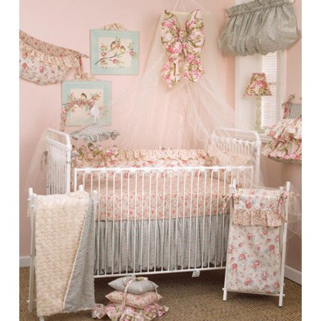 Cotton Tale Floral Crib Bedding Set Tea Party 7-piece Set