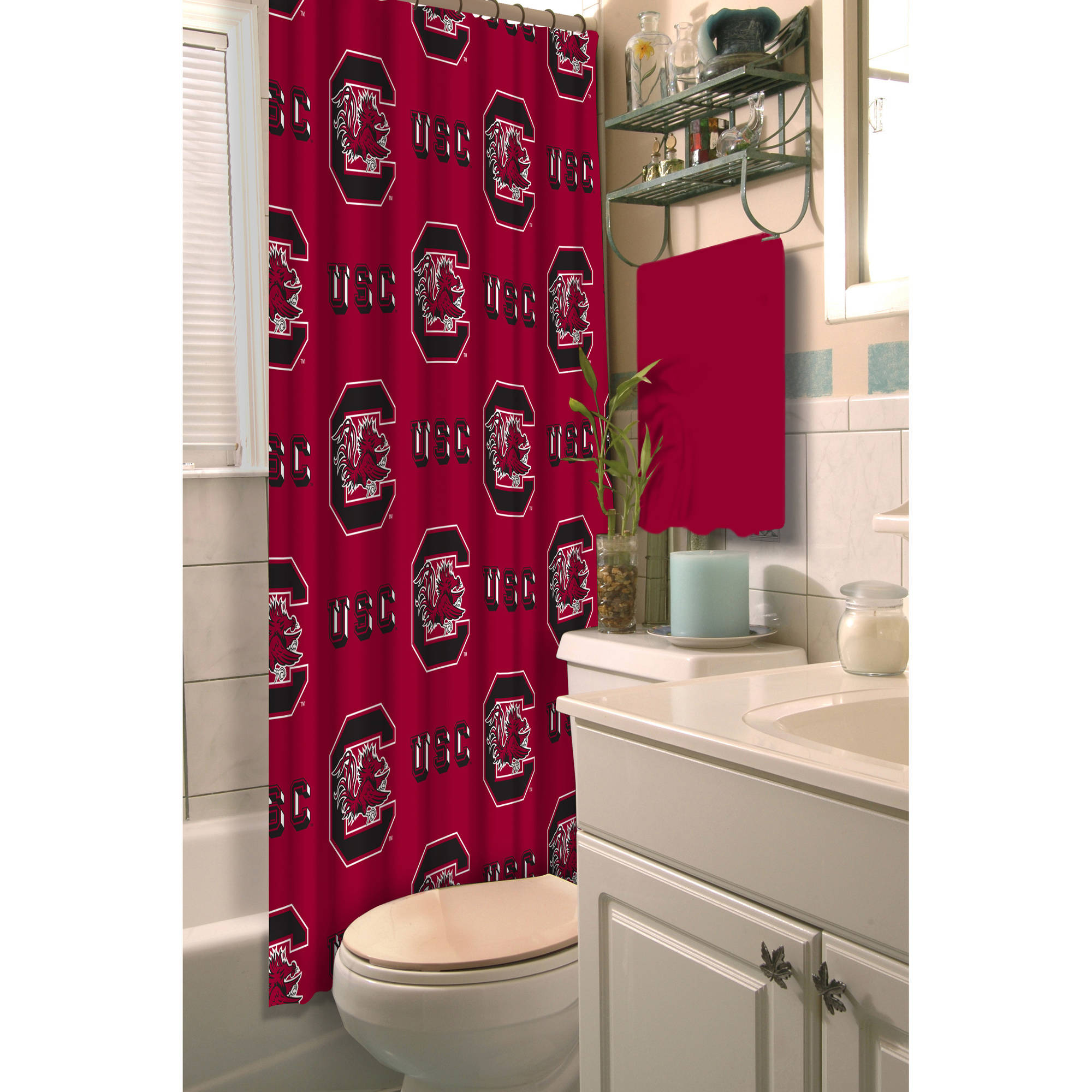 NCAA University of South Carolina Decorative Bath Collection - Shower Curtain