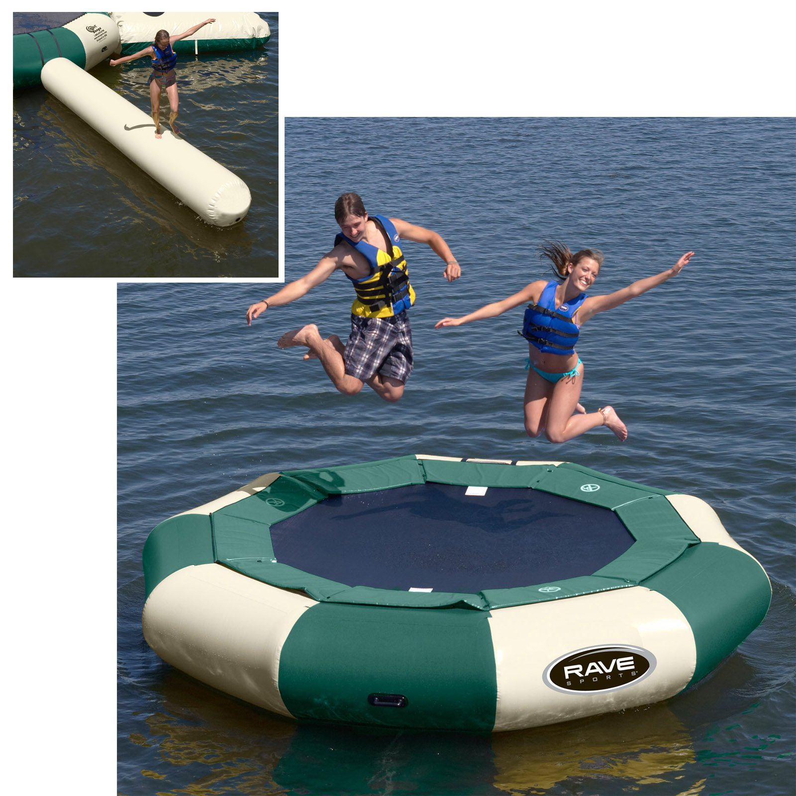 12 ft. RAVE Sports Northwoods Aqua Jump Eclipse Water Trampoline Package