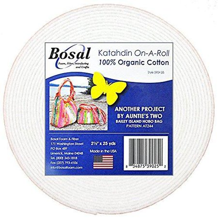 Bosal Katahdin On-A-Roll Organic Cotton Batting 2-1/2 inches 25 (Organic Cotton Batting)