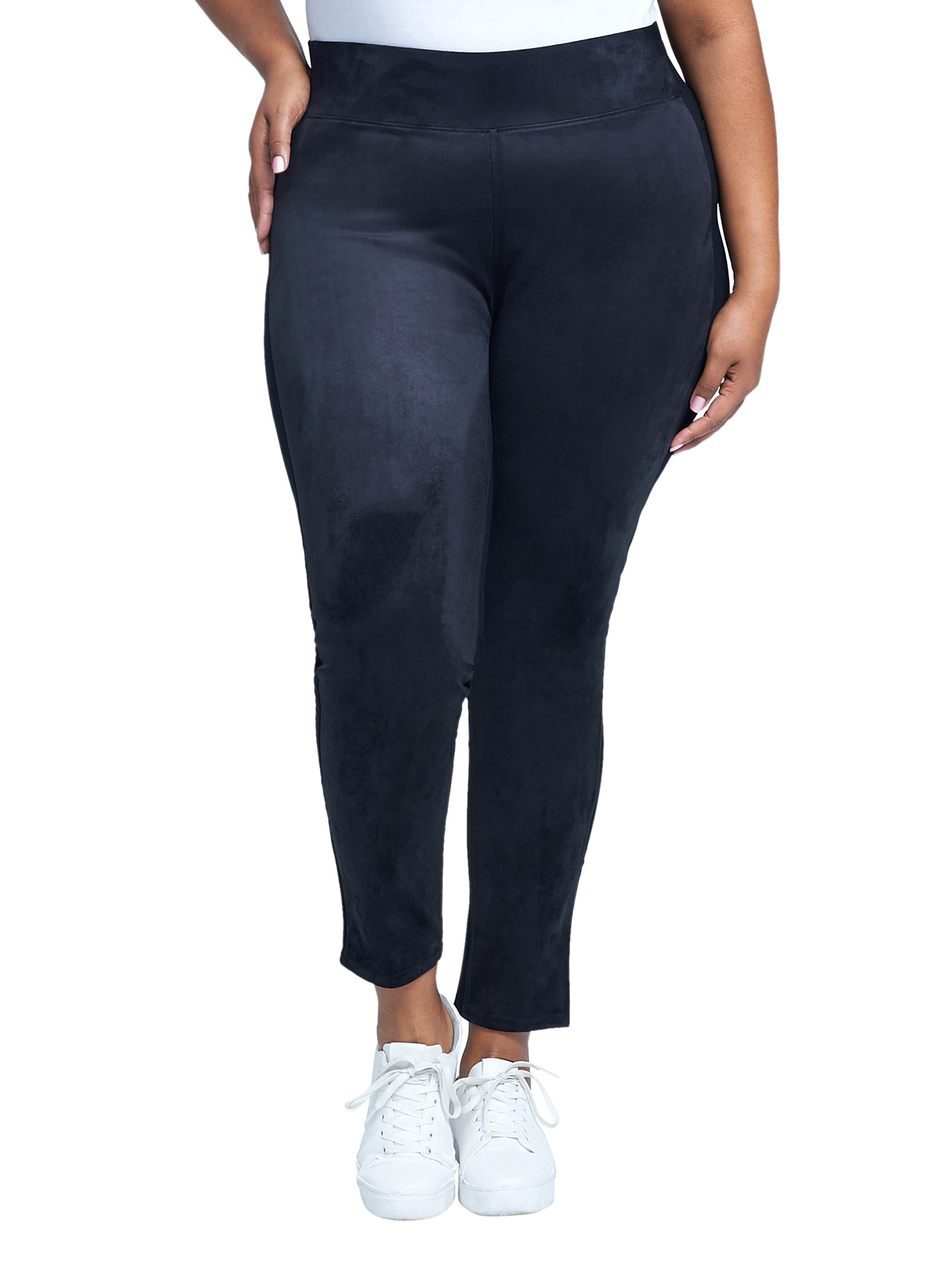 Women's Plus Size Ultra High Rise Pull On Faux Leather Legging