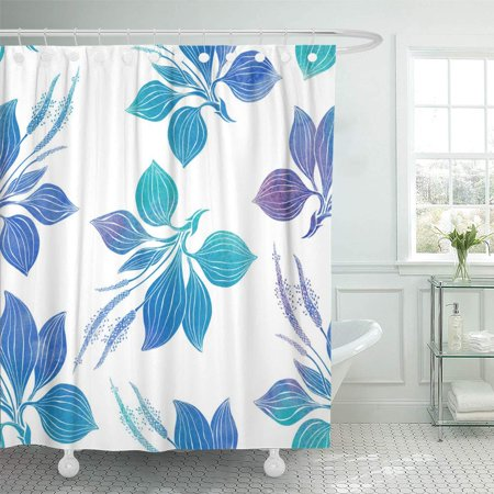 XDDJA Abstract Seamless Pattern Plantain Watercolor Illustration on a White Shower Curtain 60x72 inch - image 1 of 1
