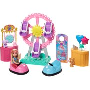 Barbie Club Chelsea Doll and Carnival Playset, 6-inch Blonde Wearing Fashion and Accessories, with Ferris Wheel, Bumper Cars, Puppy and More