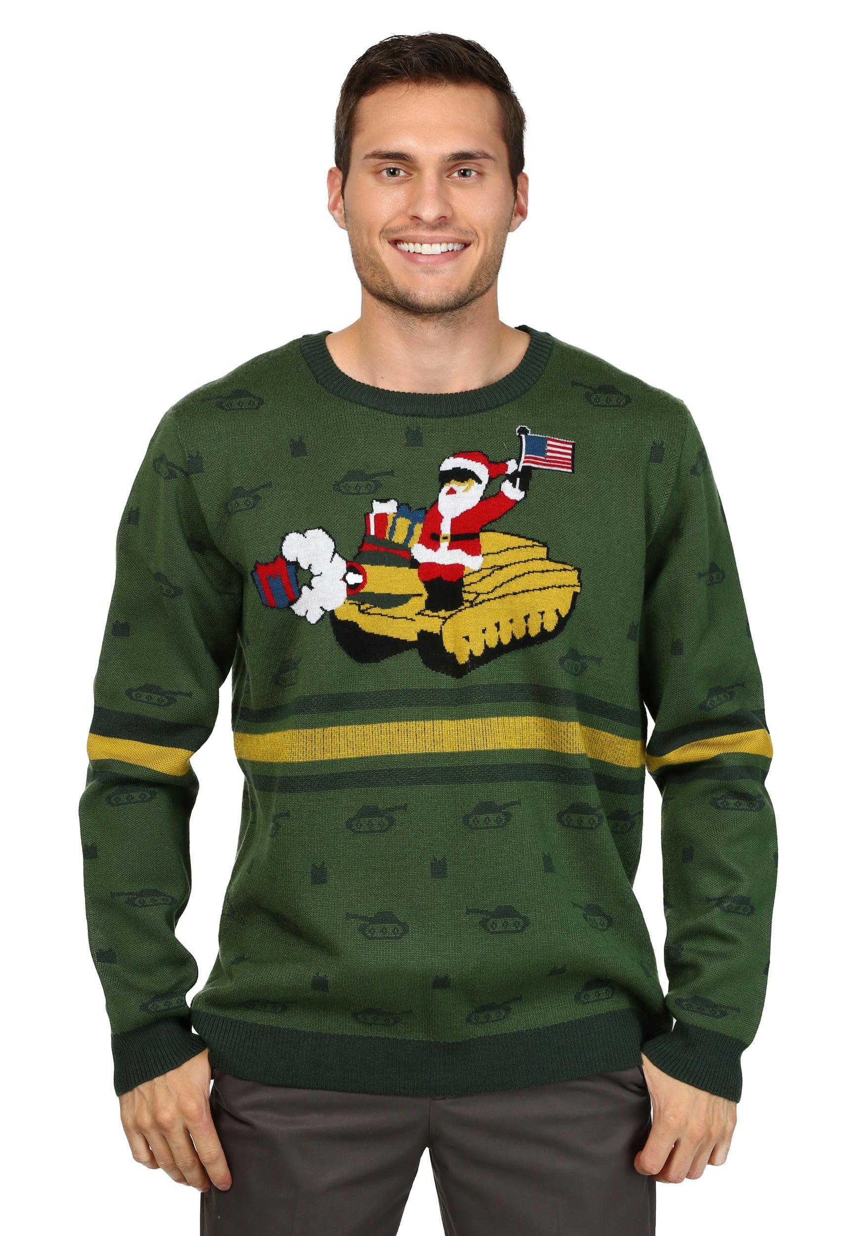 Men\'s Santa on Tank Ugly Christmas Sweater