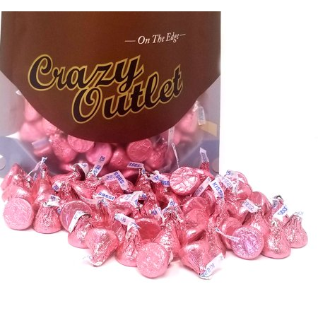 Hershey's Kisses, Milk Chocolate in Pink Foils (Pack of 1 Pound)