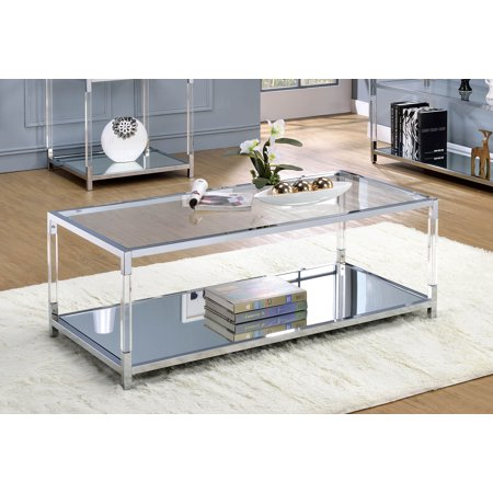 Lucite Coffee Table.Furniture Of America Ajani Contemporary Faux Lucite Coffee Table