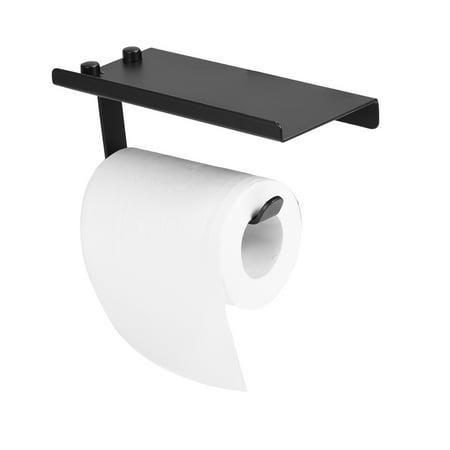 Space Aluminum Bathroom Kitchen Wall Mount Paper Towel Holder Shelf