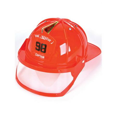 Adult Fire Fighter Captain Costume Hard Hat Toy Helmet (Fire Captain Costume)