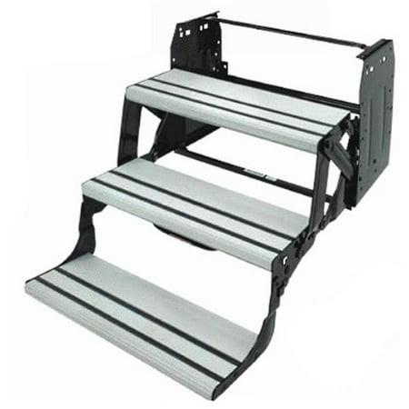 Lippert Component M6V-432696 Hybrid Triple 9 in. Aluminum Tread Step - image 1 de 1
