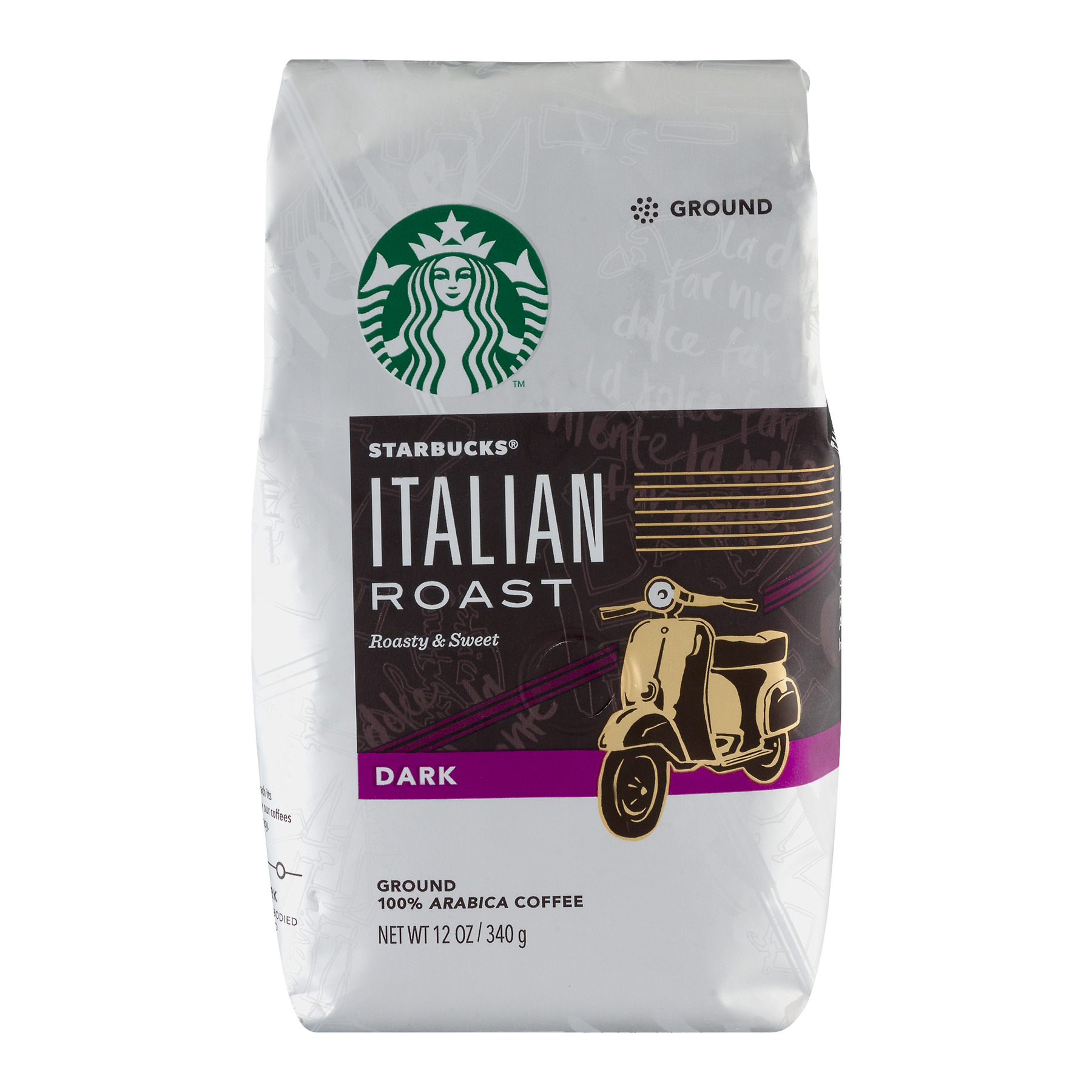 Starbucks Italian Roast Dark Ground Coffee, 12.0 OZ