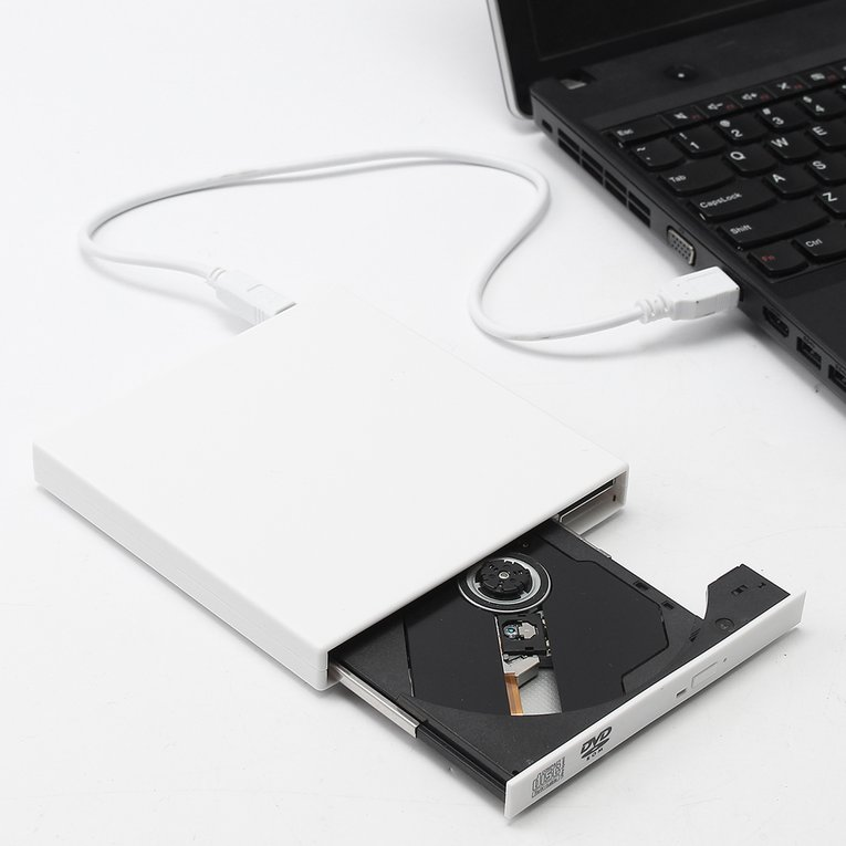 White Portable Universal Usb Drive External Dvd Cd Writer Cd-Rom Drive For Computer