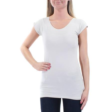 STYLE & CO Womens Beige Cap Sleeve Jewel Neck T-Shirt Top  Size: XS (Jewel Styles)